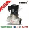 ZQDF-25电磁阀,不锈钢螺纹直动活塞式,蒸汽氧气